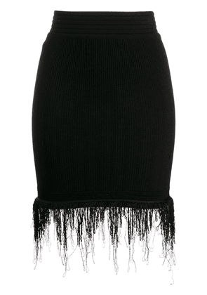 Fringed High Waist Skirt