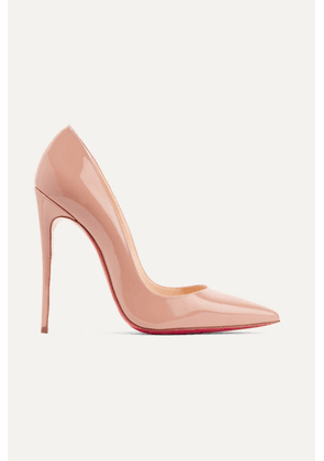 Christian Louboutin - So Kate 120 Patent-leather Pumps - Beige