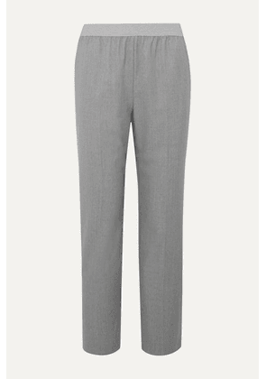 Agnona - Wool And Cashmere-blend Straight-leg Pants - Gray