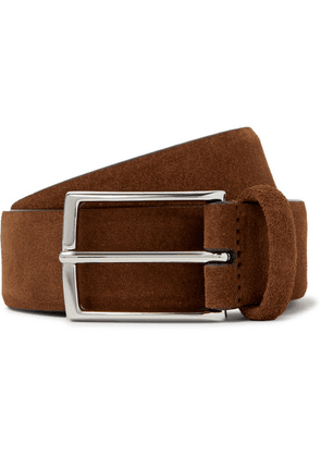 Anderson's - 3.5cm Suede Belt - Brown