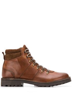 Eleventy lace up ankle boots - Brown