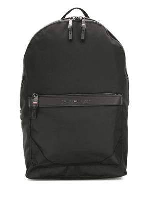 Tommy Hilfiger logo plaque backpack - Black