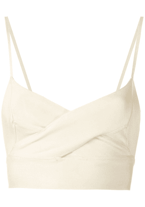 Andrea Bogosian knit cropped top - White