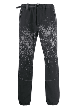 and Wander paint splatter effect trousers - Black