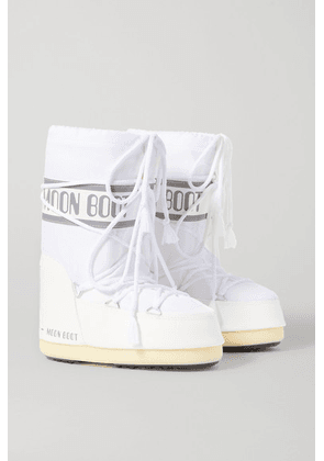 Moon Boot Kids - Ages 4 - 10 Shell And Faux Leather Snow Boots