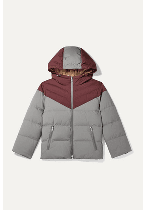 Brunello Cucinelli Kids - Two-tone Hooded Quilted Shell Coat - Gray