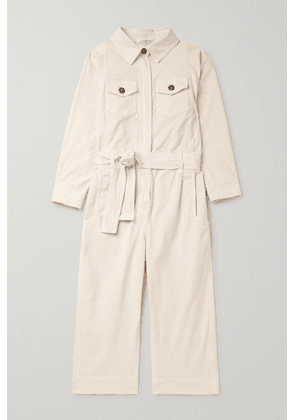 Brunello Cucinelli Kids - Ages 4 - 6 Stretch-cotton Twill Jumpsuit