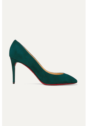 Christian Louboutin - Eloise 85 Suede Pumps - Forest green
