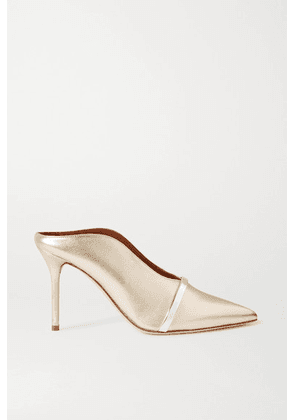 Malone Souliers - Constance 85 Metallic Leather Mules - Gold