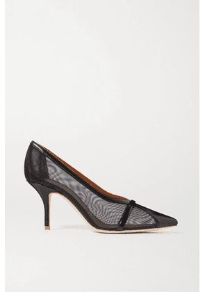 Malone Souliers - Brook 70 Mesh And Leather Pumps - Black