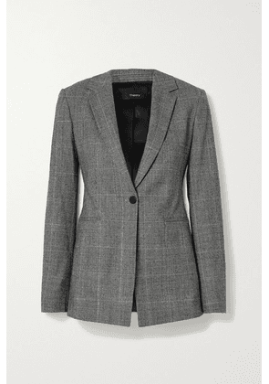 Theory - Prince Of Wales Checked Wool-blend Blazer - Gray