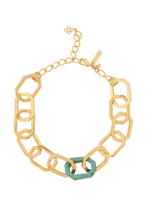 Octagonal chain-link necklace