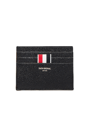 Thom Browne Pebble Grain Cardholder in Black - Black. Size all.