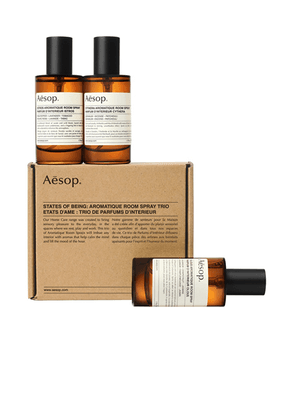 Aesop Room Sprays Trio in Istros  Cynthera & Olous. Size all.