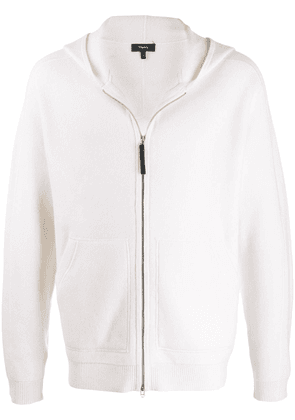 Theory cashmere zip-up cardigan - NEUTRALS