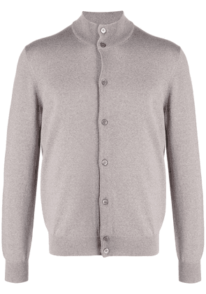 Barba high collar cardigan - Grey