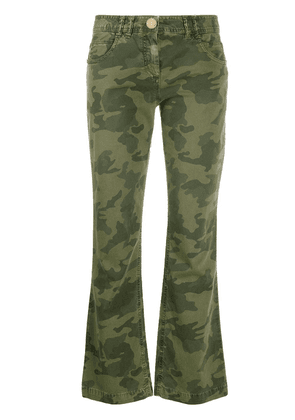 Balmain camouflage-print cropped trousers - Green