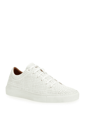 Men's Alaric Embossed Leather Low-Top Sneakers