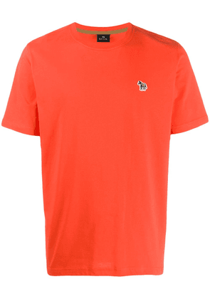 PS Paul Smith embroidered zebra relaxed-fit T-shirt - ORANGE