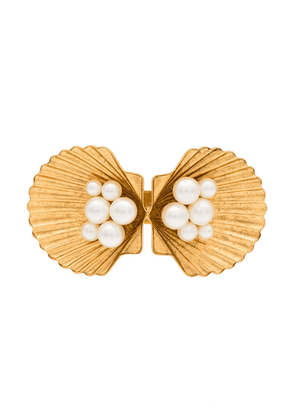 Jennifer Behr Botticelli shell hair clip - GOLD