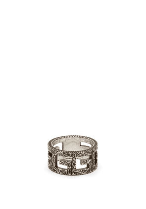Gucci - G-motif Sterling-silver Ring - Mens - Silver