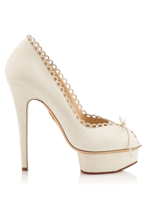 Charlotte Olympia Sale Women - DAPHNE IVORY SUEDE 38