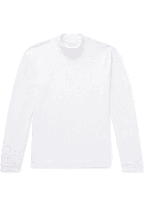 Club Monaco - Cotton-jersey Mock Neck T-shirt - White
