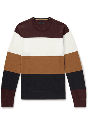 Club Monaco - Colour-block Merino Wool Sweater - Burgundy