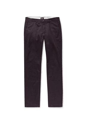 Club Monaco - Connor Slim-fit Stretch-cotton Twill Chinos - Dark purple
