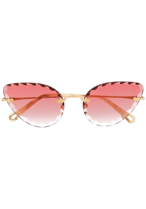 Chloé Eyewear cat eye framed sunglasses - GOLD