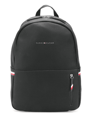 Tommy Hilfiger logo plque backpack - Black
