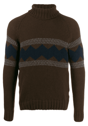Fay contrast pattern jumper - Brown