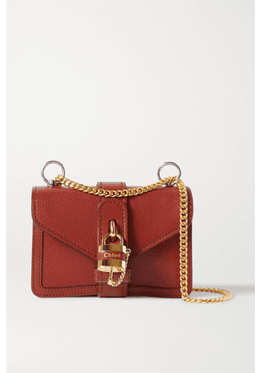 Chloé - Aby Chain Mini Textured-leather Shoulder Bag - Brown
