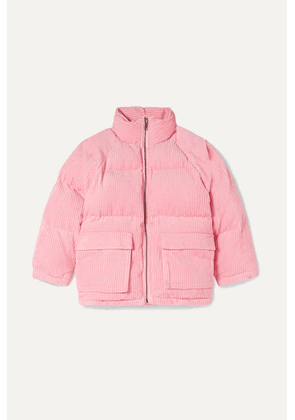 Stella McCartney Kids - Quilted Padded Cotton-corduroy Jacket - Pink