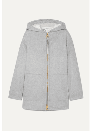 Agnona - Convertible Hooded Cashmere Padded Jacket - Gray