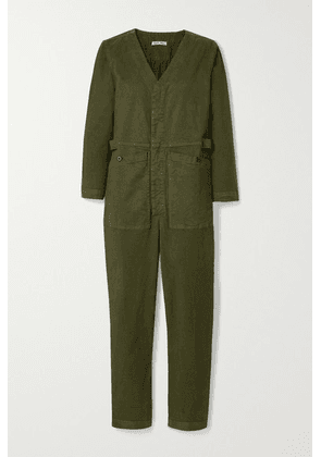 Alex Mill - Stretch-tencel And Cotton-blend Twill Jumpsuit - Army green