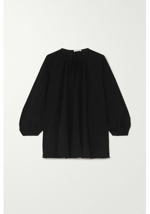 Co - Tie-detailed Crepe Blouse - Black