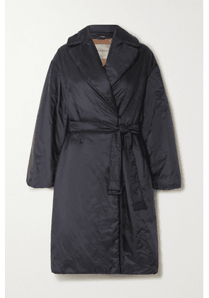 Max Mara - The Cube Belted Padded Shell Coat - Navy
