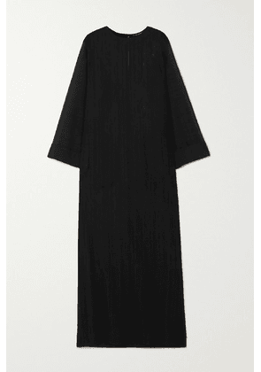 SAINT LAURENT - Wool-voile Kaftan - Black
