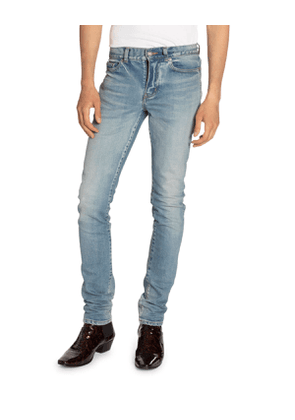 Men's Low-Rise Skinny Stretch Jeans
