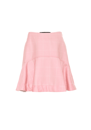 Checked wool miniskirt