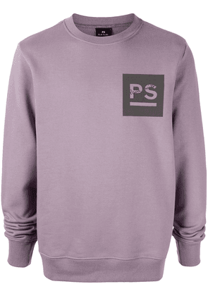 PS Paul Smith monogrammed long sleeve sweatshirt - PURPLE