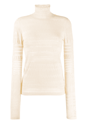 Dorothee Schumacher long sleeve cut out knit pullover - NEUTRALS