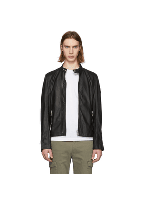 Belstaff Black Leather Arnos Cafe Jacket