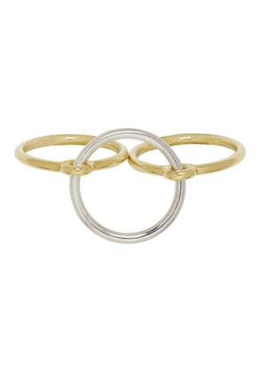 Charlotte Chesnais Gold and Silver Three Lovers Ring Set