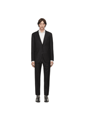 Eidos Black Wool Two-Button Suit