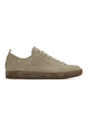 Feit Grey Suede Hand-Sewn Low Latex Sneakers