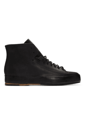 Feit Black Hand-Sewn Rubber High Sneakers