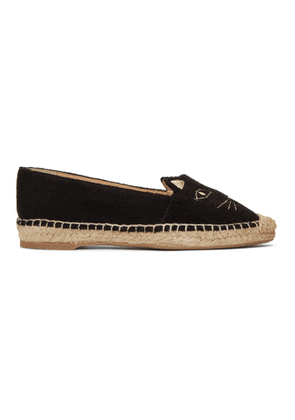 Charlotte Olympia SSENSE Exclusive Black Towelling Kitty Espadrilles
