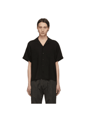 Enfants Riches Deprimes Black Wool Button Down Shirt